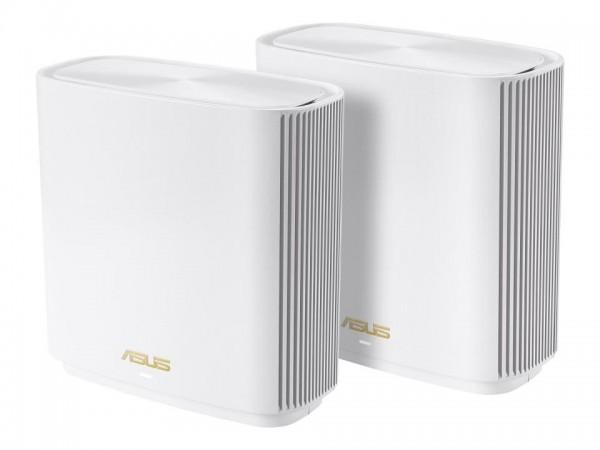 ASUS ZenWiFi AX (XT8) - WLAN-System (2 Router) - bis zu 510 m² - Netz - GigE, 2.5 GigE - 802.11a/b/g