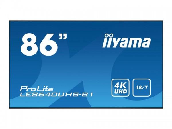 "iiyama ProLite LE8640UHS-B1 - 218 cm (86"") Diagonalklasse (217.4 cm (85.6"") sichtbar) LCD-Display mi"