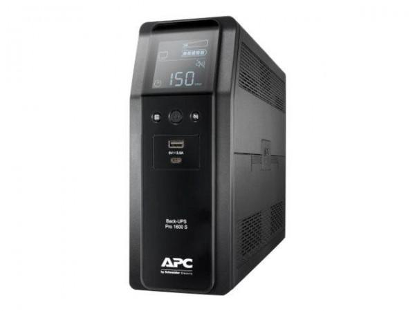 APC Back-UPS Pro BR1600SI - USV - Wechselstrom 220-240 V - 960 Watt - 1600 VA 260 Wh - USB - Ausgang