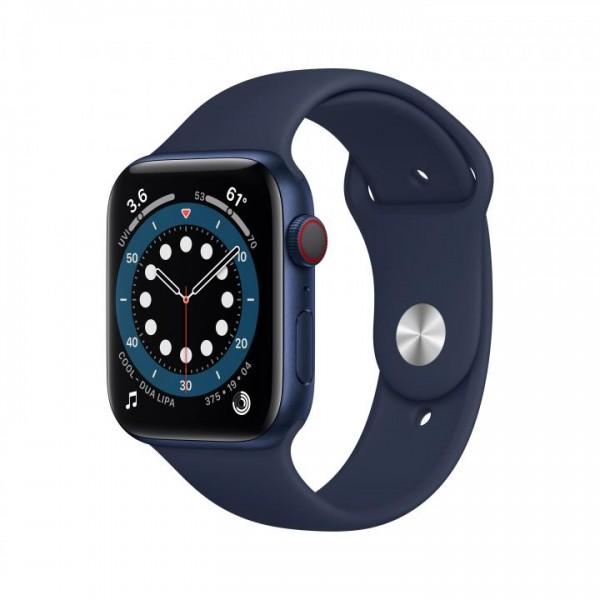 Apple Watch Series 6. Display-Typ: OLED, Bildschirmauflösung: 368 x 448 Pixel, Touchscreen. Flash-Sp