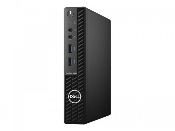 Dell OptiPlex 3080 - Micro - Core i3 10100T / 3 GHz - RAM 8 GB - SSD 256 GB - UHD Graphics 630 - Gig