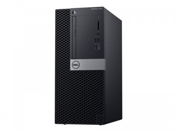 Dell OptiPlex 7070 - MT - Core i5 9500 / 3 GHz - RAM 8 GB - SSD 256 GB - DVD-Writer - UHD Graphics 6