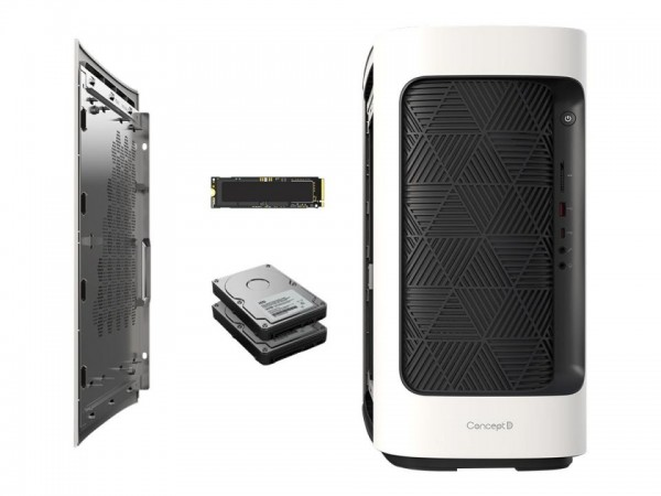 Acer ConceptD 300 CT300-51A - Tower - Core i7 10700 / 2.9 GHz - RAM 32 GB - SSD 1.024 TB, HDD 2 TB -
