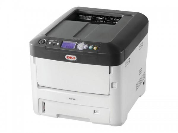 OKI C712n - Drucker - Farbe - LED - A4 - 1200 x 600 dpi - bis zu 36 Seiten/Min. (einfarbig)/ bis zu