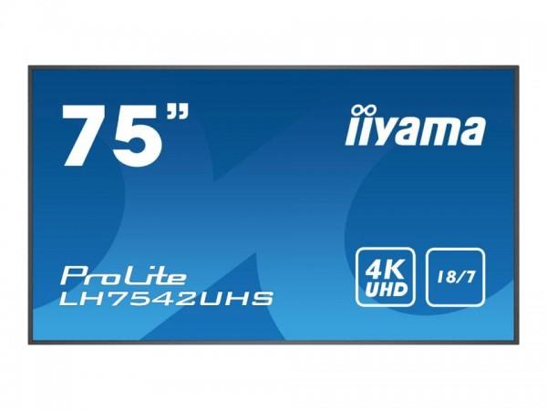 """Iiyama ProLite LH7542UHS-B1 - 190.5 cm (75"""") Diagonalklasse (189.2 cm (74.5"""") LH7542UHS-B1"""