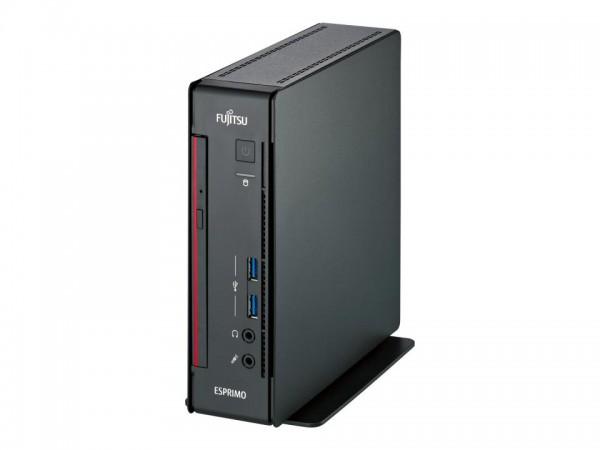 Fujitsu ESPRIMO Q558 - Mini-PC - Core i7 9700T / 2 GHz - RAM 16 GB - SSD 512 GB - NVMe - DVD SuperMu