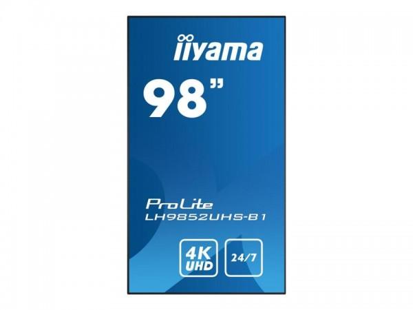 """iiyama ProLite LH9852UHS-B1 - 248 cm (98"""") Diagonalklasse (247.7 cm (97.52"""") sichtbar) LCD-Display m"""