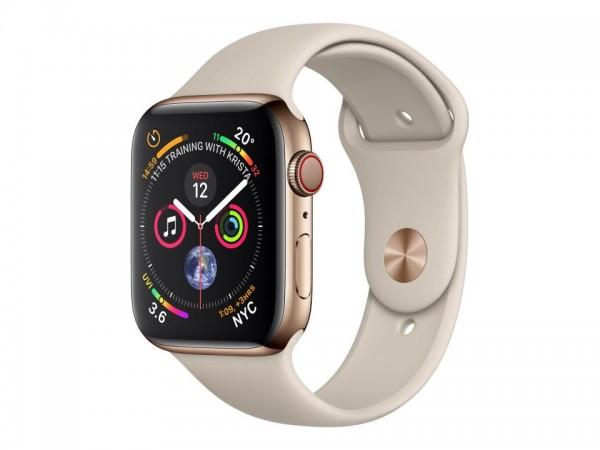 Apple Watch Series 4 (GPS + Cellular) - 40 mm - Gold, Edelstahl - intelligente Uhr mit Sportband - F