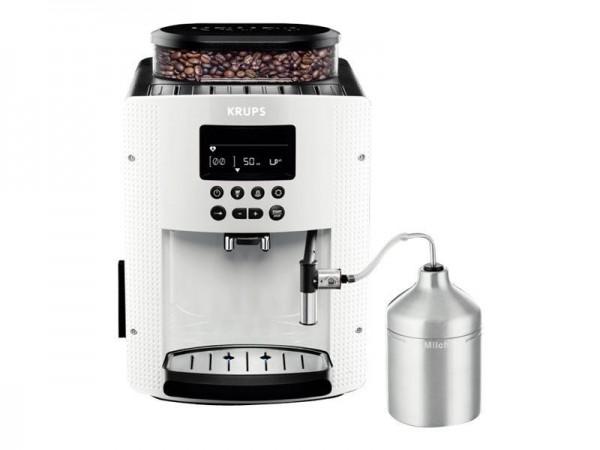 Krups Essential EA8161 - Automatische Kaffeemaschine mit Cappuccinatore - 15 bar - weiß