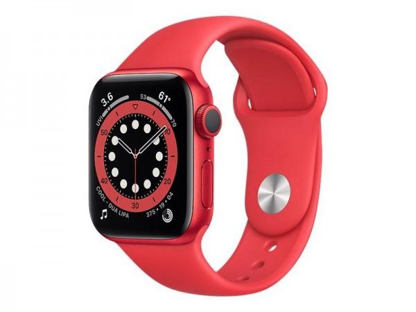 Apple Watch Series 6 (GPS + Cellular) - (PRODUCT) RED - 40 mm - Red Aluminium - intelligente Uhr mit