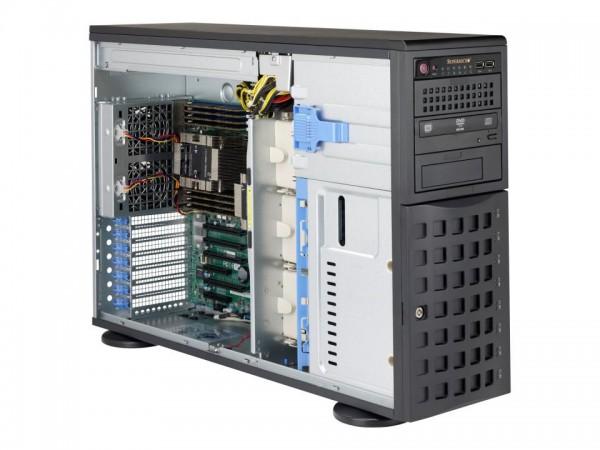 Supermicro SC745 BAC-R1K23B - Tower - 4U - Erweitertes ATX - SATA/SAS - Hot-Swap 1200 Watt - Schwarz